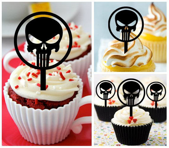 Cp400 cupcake toppers Punisher Package : 10 pcs