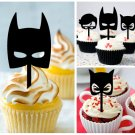 Cp456 cupcake toppers batman Package : 10 pcs