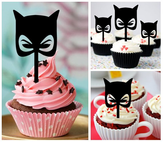 Cp456 cupcake toppers catwoman Package : 10 pcs