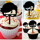 Cp456 cupcake toppers robin Package : 10 pcs