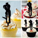 Cp460 cupcake toppers Joker And Harley Quinn caressing Package : 10 pcs