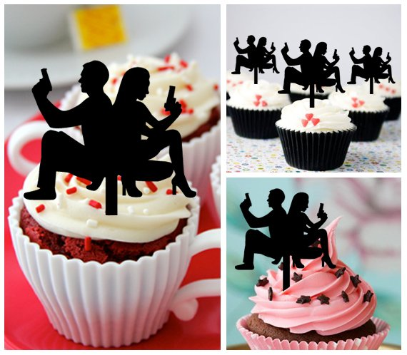 Cp464 cupcake toppers james bond and eva green Package : 10 pcs