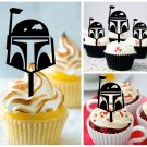 Cp466 cupcake toppers Boba Fett Package : 10 pcs