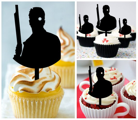 Cp476 cupcake toppers Terminator Package : 10 pcs