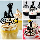 Mo4 cupcake toppers Movies Grease Party Package : 10 pcs