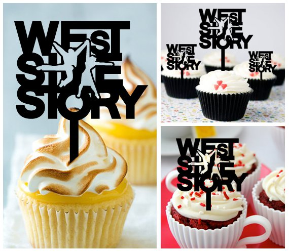 Mo9 cupcake toppers west side story Package : 10 pcs