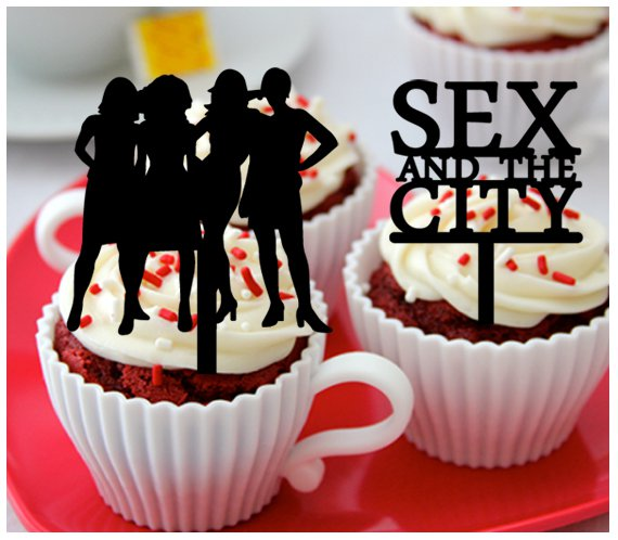 Mo10 cupcake toppers SEX and the CITY Package : 10 pcs