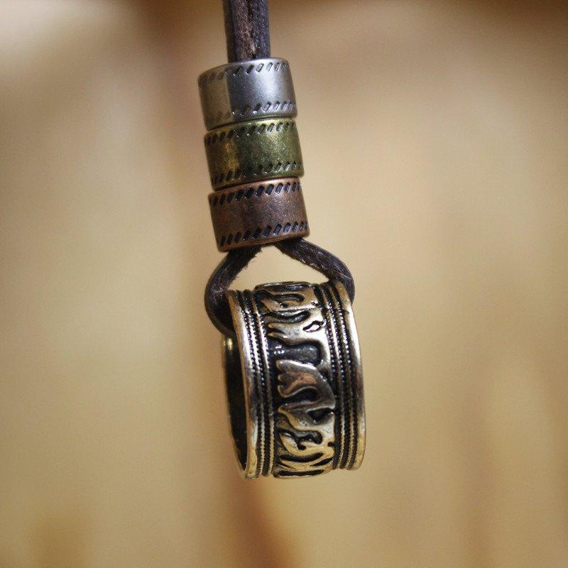 Surf Necklace Boho Leather Pendant Ethnic Jewelry