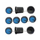 5pcs Black Knob Blue Face Plastic for Rotary Taper Potentiometer Hole 6mm New