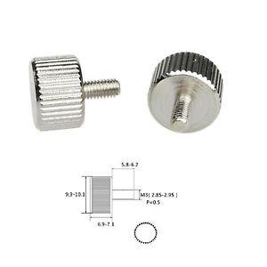 2/5/8/10/20/50/100 Pcs M3 x 6mm Toolless Thumb Screws Nickel-plated