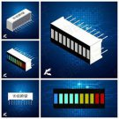 10PCS 10 Segment LED Bargraph Light Display Red Yellow Green Blue NEW