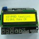 Yellow Backlight 1602 LCD Board Keypad Shield For Arduino LCD Duemilanove Robot