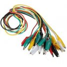 10pcs 50cm Double-ended Crocodile Clips Cable Alligator Clips Wire testing wire