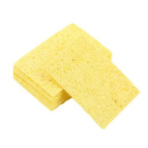 10 PCS NEW Enduring Condense Electric Welding Soldering Iron Cleaning Sponge