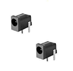 5 pcs DC Power Jack Socket DC-002 1.1 x 3.5 mm Black DIY Good Quality New