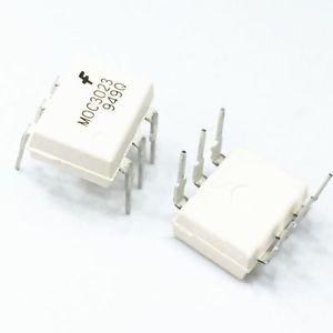 2/5/10/50/100PCS MOC3023 OPTOCOUPLER TRIAC-OUT 6-DIP FSC NEW