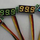 5pcs Mini DC 0-100V Green LED 3-Digital Display Voltage Voltmeter Panel Motor