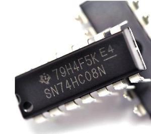 10PCS SN74HC08N 74HC08 Quad 2-input AND gate IC DIP-14P NEW
