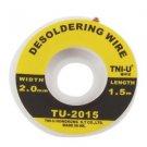 5 ft. 2mm Desoldering Braid Solder Remover Wick TNI-U