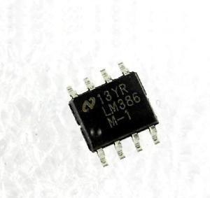 50PCS LM386 LM386M-1 IC AMP AUDIO PWR .325W AB 8SOP NSC NEW DATE CODE:12+
