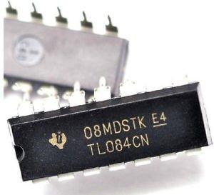 10PCS TL084CN TL084 DIP-14 Quad JFET-Input Op Amp IC