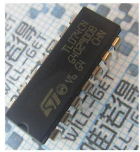 20pcs TL074 TL074CN IC OP AMP QUAD JFET DIP-14