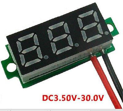 """0.28"""" Digital Voltage Meter Red Voltmeter Panel DC 3.50~30V Car Power Monitor"""