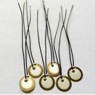 5 PCS 12mm Piezo Elements Sounder Sensor Trigger Drum Disc + wire copper