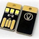 2PCS Card Lamp Bulb Led Keychain Mini LED Night Light Portable USB Power White