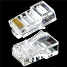 50Pcs Practical Internet Gold Plated Cable Modular Plug Adapter RJ45 8P8C CAT5E