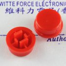 10PCS Red Button for 12x12x7.3mm Micro Switches PCB Tact Switches