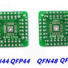 2pcs QFN44 QFP48 QFP44 PQFP LQFP Turn to DIP SMD Adapter to DIP Board