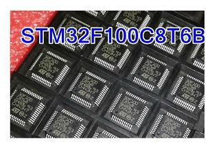 10PCS STM32F100C8T6 STM32F100C8T6B STM32F100 LQFP-48 ST NEW