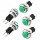 2PCS Green SPST Non Locking Push Button Switch DS-316 AC 250V 3A