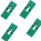 50pcs color 2.54mm pitch standard jumpers with handle green