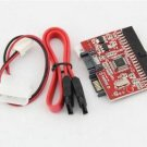 2PCS  IDE to SATA 100/133 Serial HDD CD DVD Converter Adapter + Power &  Cable