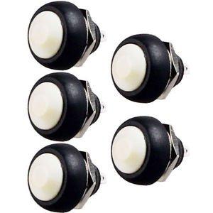 1PCS White 12mm Waterproof momentary Push button Switch Mini Round Switch