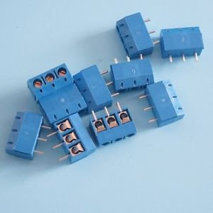 3PCS Screw Terminal Block Connector 3Pins 5mm Pitch KF301-3P 5.08 300V/16A