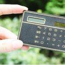 8 Digits Ultra Thin Mini Slim Credit Card Solar Power Pocket Calculator Black