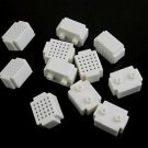 10pcs Mini 25 Points Breadboard Solderless Prototype Tie-point white For Arduino