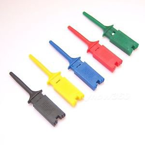 New 20 PCS 5 Color Mini Grabber SMD IC Test Clip Hook Probe Jumper