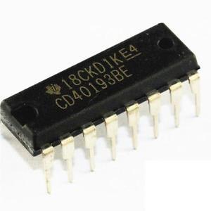 2PCS CD40193 CD40193BE 16-pin DIP DIP16 DIP-16 TI IC NEW