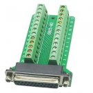 1PCS DB25 Female 25Pin Plug Breakout PCB Board Terminals D-SUB Connector