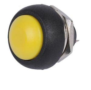 1PCS Yellow 12mm Waterproof momentary Push button Switch Mini Round Switch