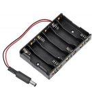 2 PCS 6XAA 6xAA 6*AA 9V Battery Holder Box Case Wire DC 5.5*2.1mm Plug