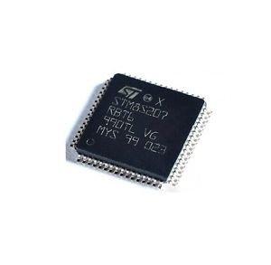 5PCS STMICROELECTRONICS - STM8S207RBT6 - 8-BIT MCU, 128K FLA, 6K RAM, LQFP64