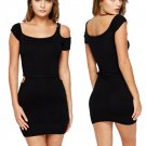 Cut Out Bodycon Mini Black Dress O/S ♡ FREE Worldwide Shipping ♡