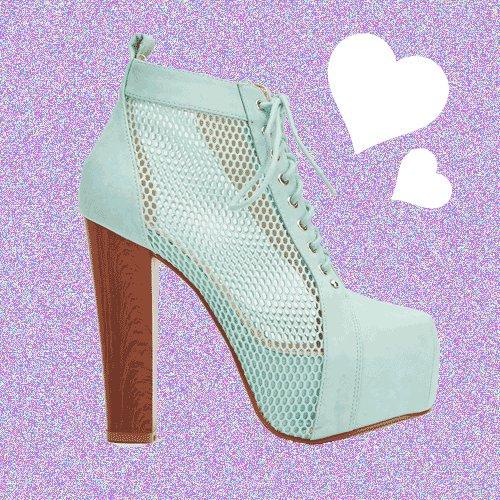 Mesh Mint Insert Faux Leather Heeled Boots UK 4 � FREE Worldwide Shipping �