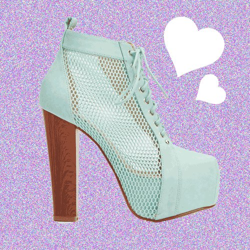Mesh Mint Insert Faux Leather Heeled Boots UK 6 � FREE Worldwide Shipping �