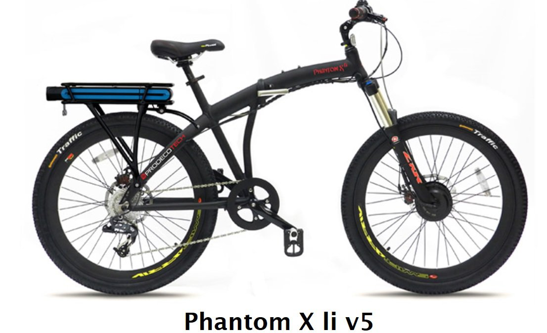 Prodecotech Phantom X LI V5 Folding E-Bike V5 300W